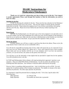 DSABC Instructions and Scripts for Moderators & Timekeepers