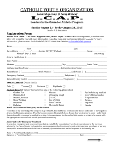 Registration Form - Catholic Youth Organization