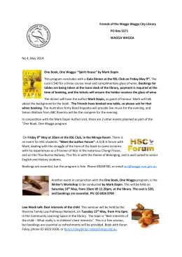 Newsletter May 2014 - Wagga Wagga City Council