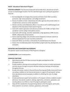 NACEE - Educational Talent Search Program POSITION SUMMARY