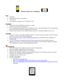 iDevices and Core Vocabulary