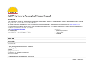 AMSANT Health Research Proposals Pro-forma