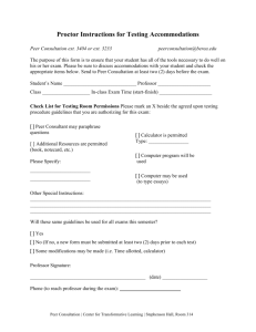 Testing Accommodations Form