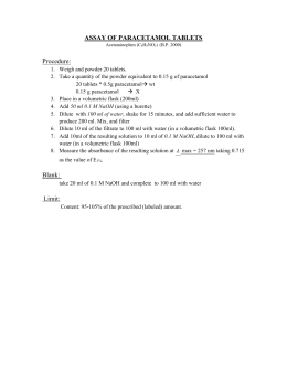 assay of paracetamol tablets