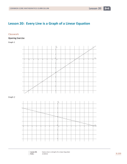Lesson 20: Every Line is a Graph of a Linear Equation