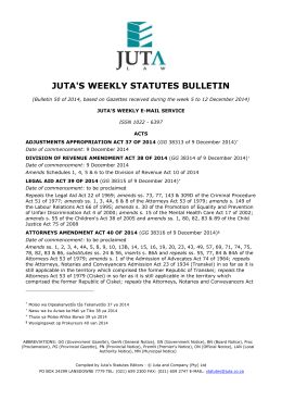 juta`s weekly statutes bulletin
