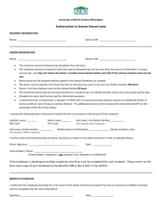 Voluntary Shared Leave Donation Form
