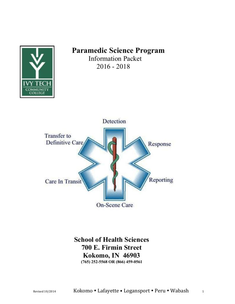 Paramedic Application Packet