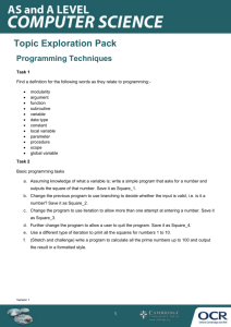 A Level Computer Science, Topic Exploration Pack, Types of