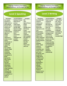 Language Acquisition Bookmark