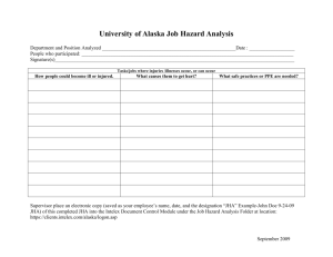 UA Job Hazard Analysis Form (DOC)
