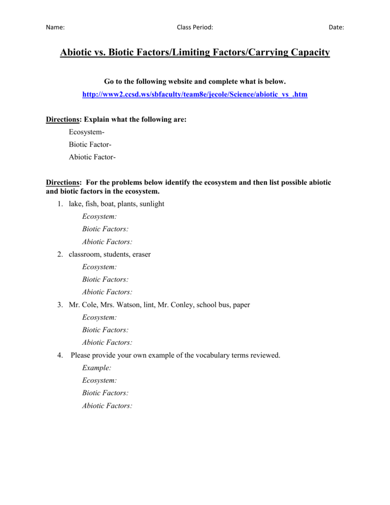 Abiotic And Biotic Factors Worksheet apexwindowsdoors – Abiotic and Biotic Factors Worksheet