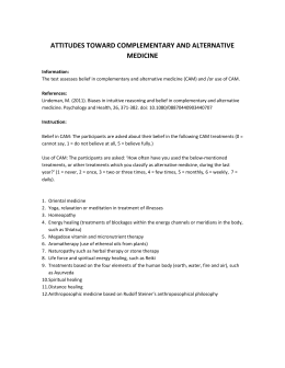 attitudes toward complementary and alternative medicine