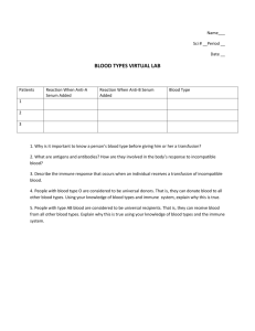 blood types virtual lab paperwork 7th grade