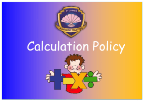 Please click here to find a copy of our Calculation Policy.