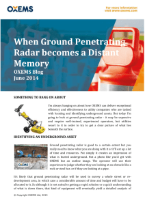 When Ground Penetrating Radar becomes a Distant Memory