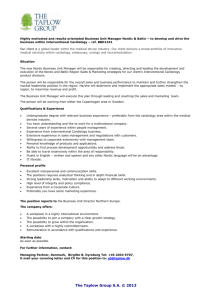 Highly motivated and results orientated Business Unit Manager