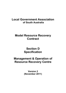 Model Resource Recovery Contract - Local Government Association