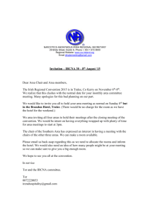Regional Convention Invitation to EASC