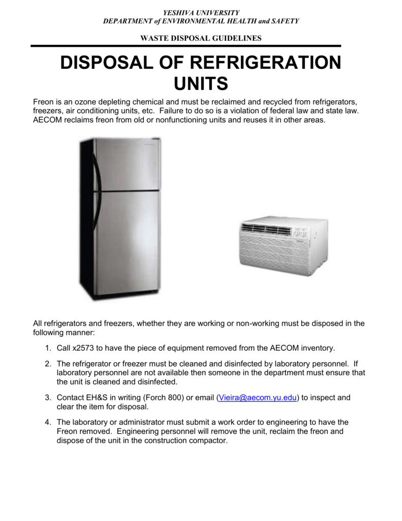 Disposal of Refrigerators