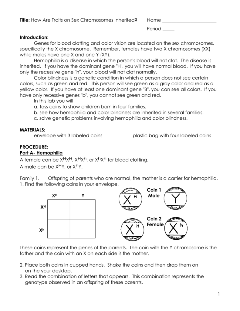 Worksheets Inherited Traits Worksheet title how are traits on sex chromosomes inherited