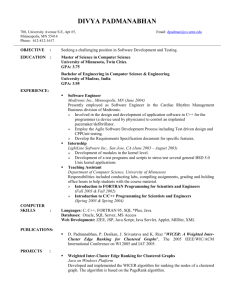 Resume - University of Minnesota Twin Cities