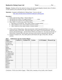 Radiometric dating lab activity form