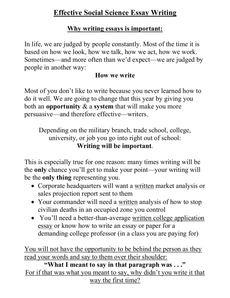 English As A Second Language Essay  Essay On English Teacher also Example Of Autobiographical Essay Effective Social Science Essay Writing How To Make A Bibliography For An Essay