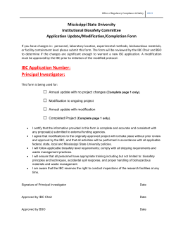 IBC Modification Form - Office of Research Compliance