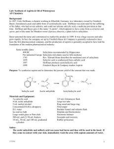 The Synthesis of Aspirin - mvhs