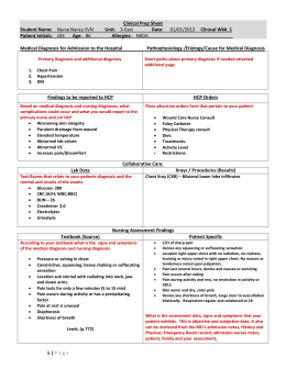 Clinical Preparation Sheet Sample