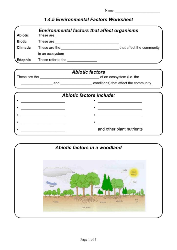 free worksheets abiotic vs biotic factors worksheet answers free math worksheets for. Black Bedroom Furniture Sets. Home Design Ideas