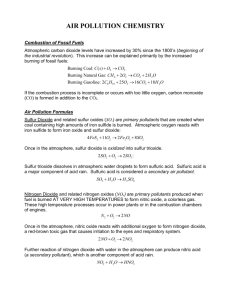 Air Pollution Chemistry - the Kennedy APES website