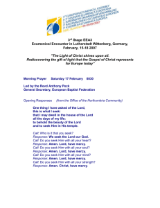 EEA 3 Preparation Meeting, Wittenburg 14-18 February
