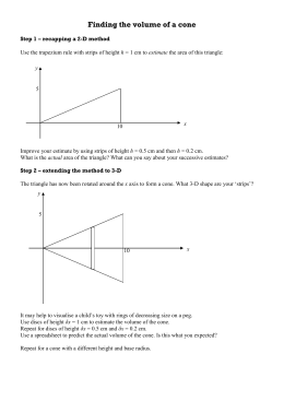 Finding the volume of a cone