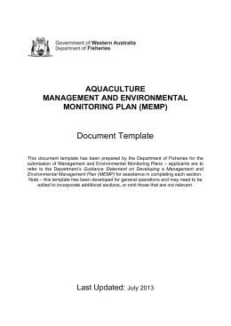 MEMP Document Template