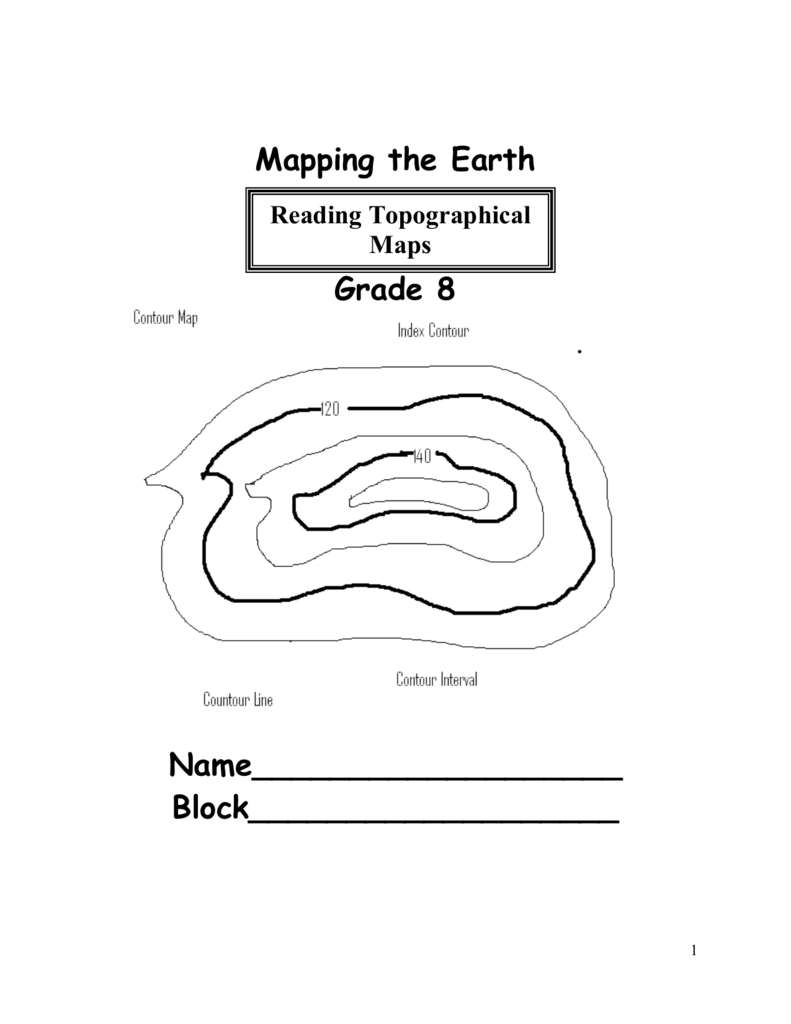worksheet Contour Map Worksheet mapping the earth mr ruggieros science 8 2