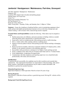 Janitorial/Handyperson/Maint., Part-time
