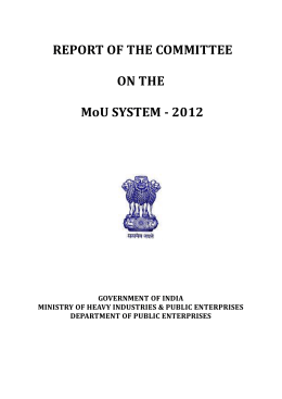 PG Mankad Committee Report on MoU System
