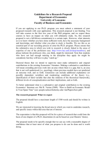 Guidelines for a doctoral thesis dissertation proposal - HEC
