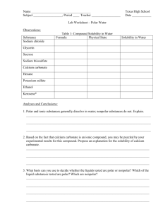 Lab Worksheet - Polar Water