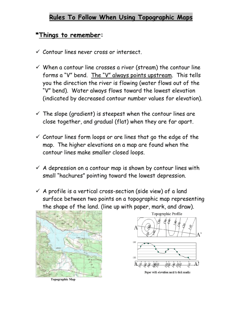 Rules To Follow When Using Topographic Maps