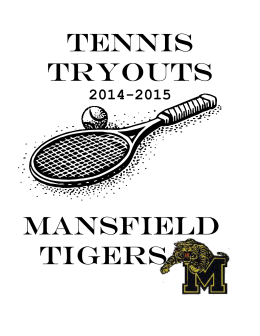 Tryout Information Packet - Mansfield Independent School District