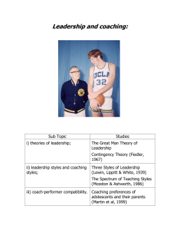 g) Leadership and coaching: