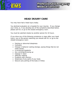 HEAD INJURY CARE