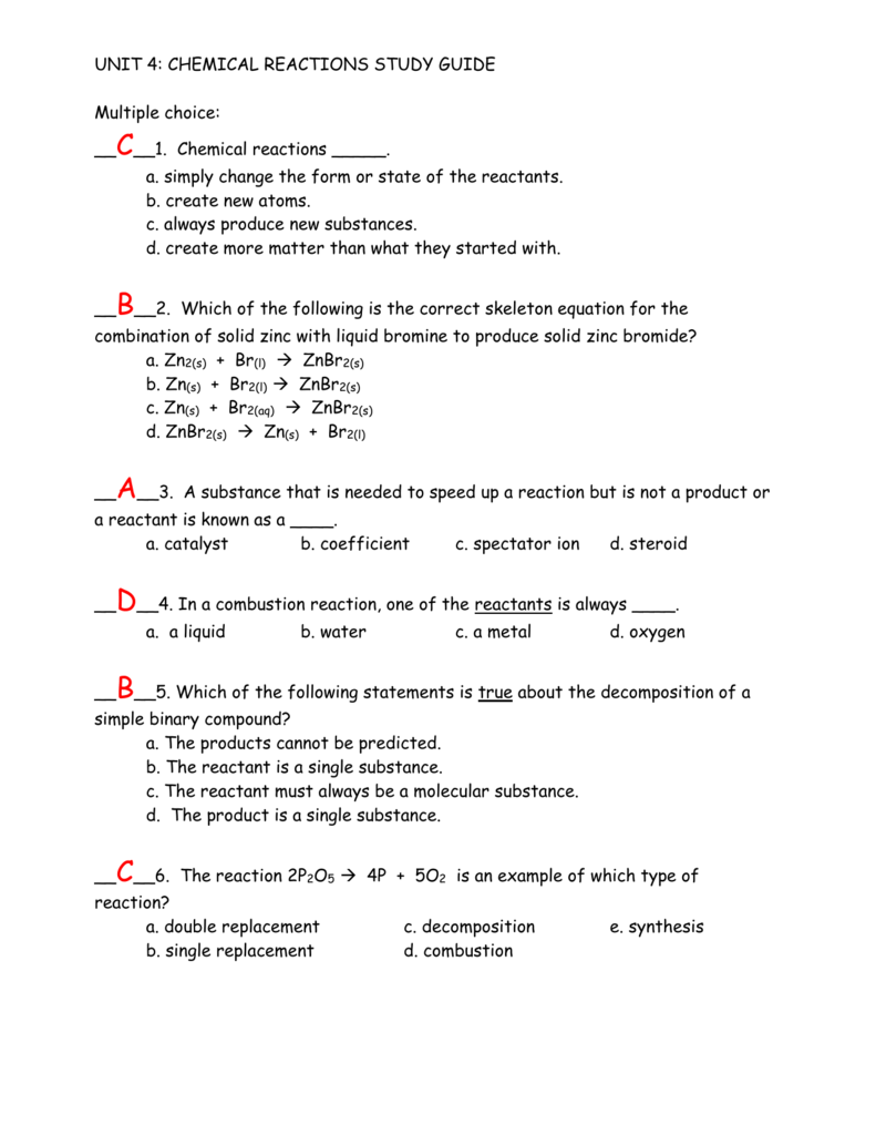 chemistry unit 9 study guide Assetspearsonschoolcom.