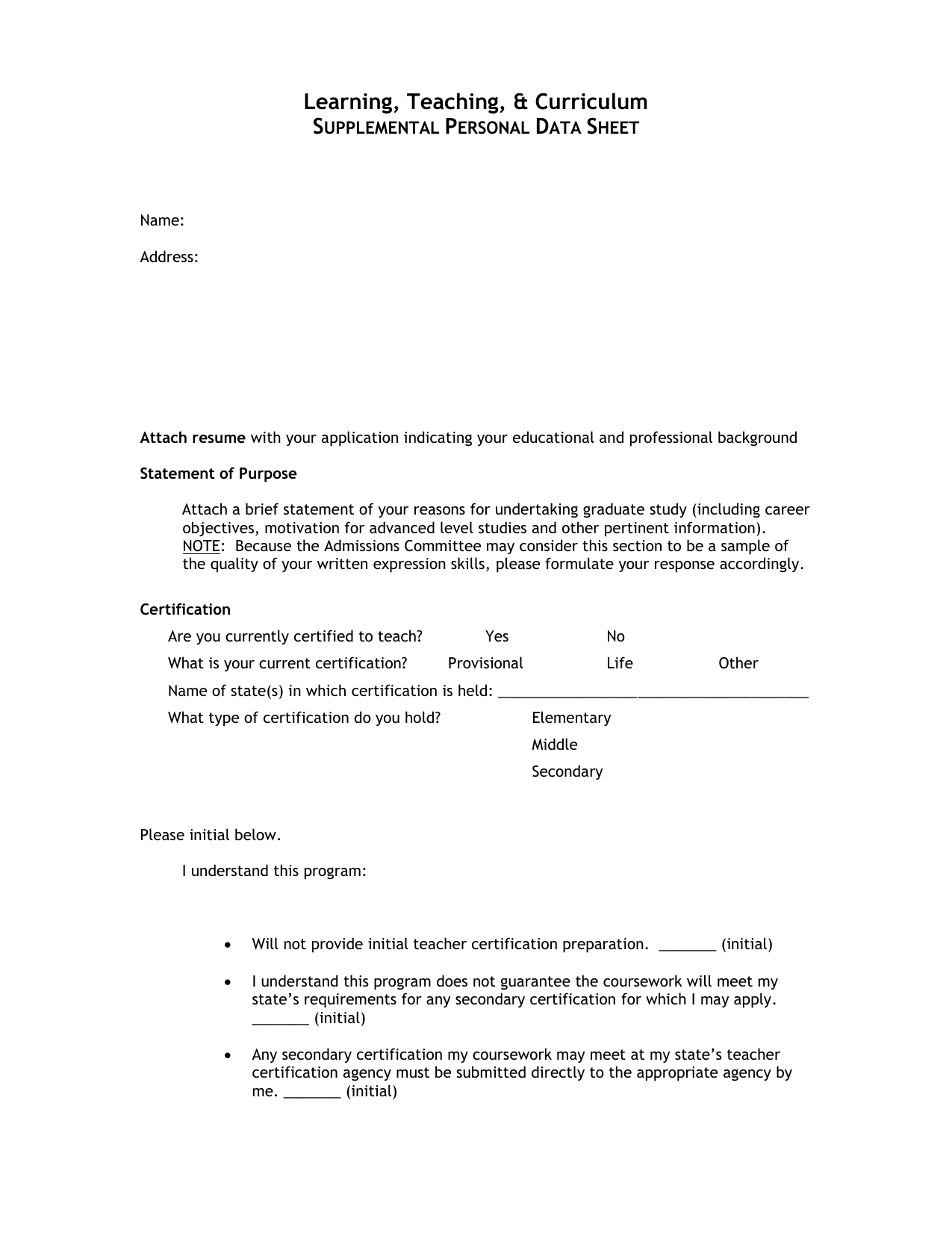 statement of purpose sample for masters degree