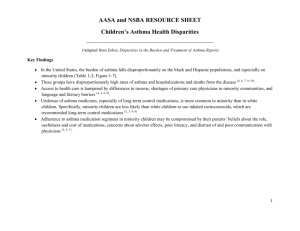 AASA and NSBA RESOURCE SHEET Children`s Asthma Health