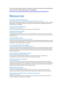 This list of sources and resources in relation to post school research