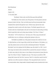 The Beatles Research Paper - Columbus State University